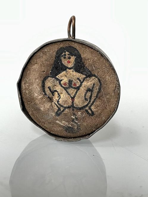 SHEELA NA GIG -  pendant - sacred fertility symbol - folk art