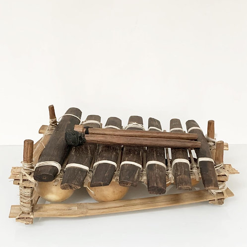 BALAFON GOURD XYLOPHONE  - Vintage West African Musical Instrument