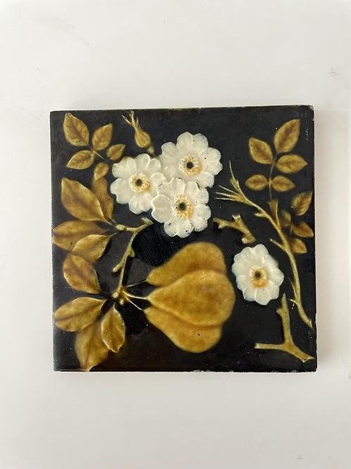TILE - vintage decorative ceramic tile