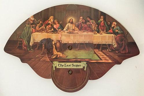 Vintage The Last Supper Postcard Fan