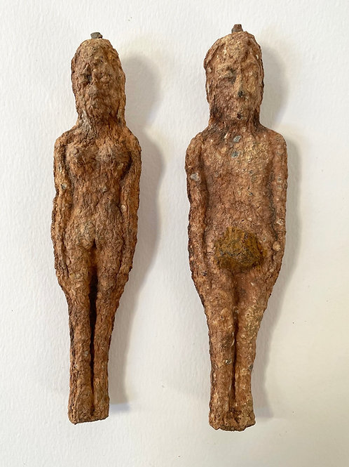 POPPET EFFIGY FIGURES - hand carved antique folk art