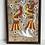 Thumbnail: MEXICAN BIRDS - vintage art painting on tree bark