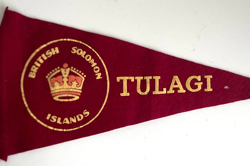 TULAGI PENNANT - vintage solomon islands souvenir