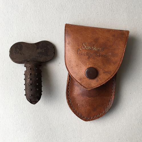 Vintage Terrys Hedgehog Pipe Reamer in Leather Case
