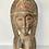 Thumbnail: CARVED WOOD FEMALE FIGURE - decorative folk art