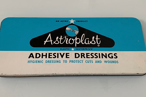 "Large 9"" Vintage Astroplast Chemists Advertising Tin - First Band Aid Plasters"