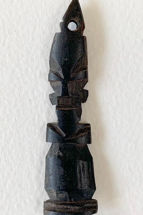 Vintage Hand Carved Folk Art Character Figure Pendant