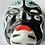 Thumbnail: PAPIER MACHE FACE MASK - vintage oriental japanese theatrical design