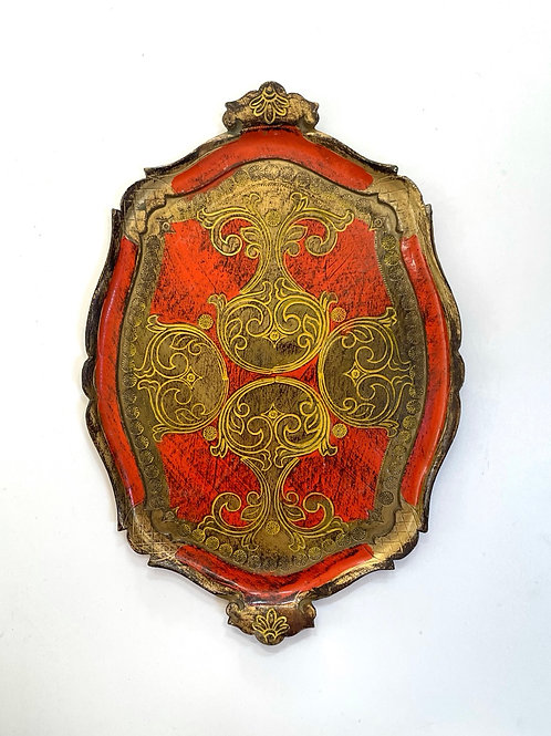 FLORENTINE TRAY - antique italian decorative