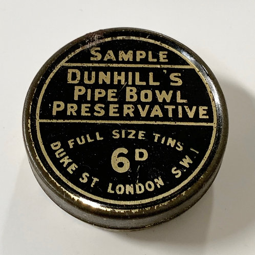 Vintage DUNHILL Pipe Smokers Bowl Preservative Tin   Sample Size