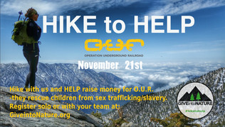 "Give into Nature : ""Hike to Help"""