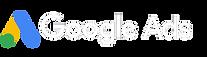 Google Ads - Full Logo (White Typeface).