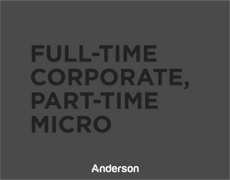 Full-Time Corporate, Part-Time Micro