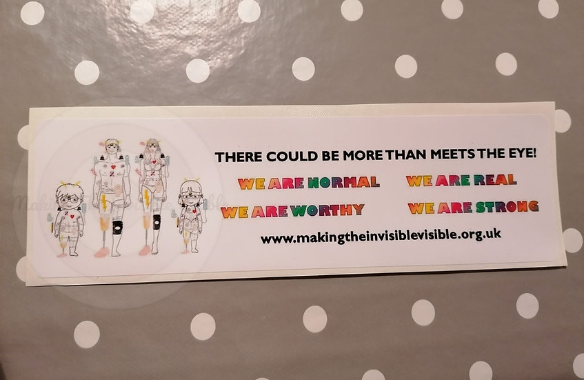 Car Stickers for invisible illness and disability awareness