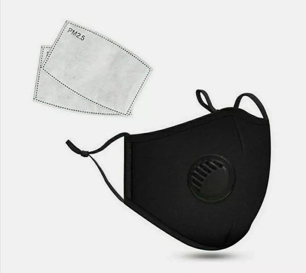 Vent Adult Face Mask with Replaceable Filters + Different Colours