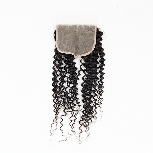 5x5 Kinky Curly Transparent Lace Closure