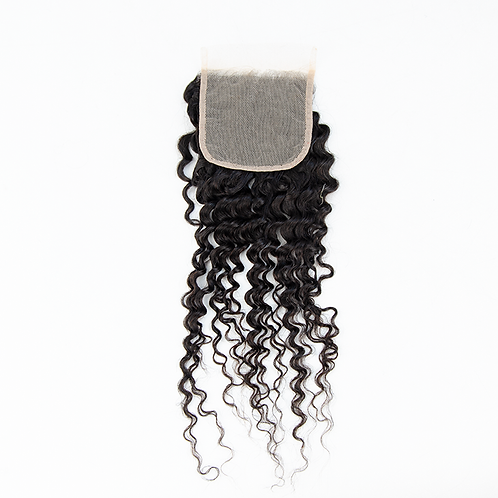 4x4 Kinky Curly Transparent Lace Closure