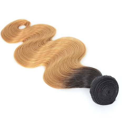 Mona Hair Color 1B/27 Ombre  Human Weave Hair Body Wave