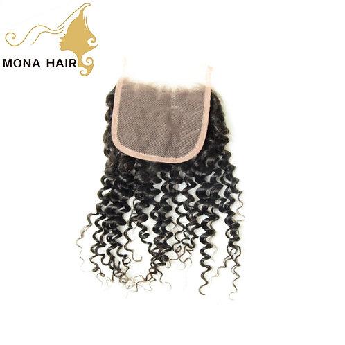 Mona Hair 4x4 Lace Closure Kinky Curly