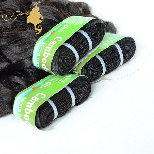 Mona Hair Cambodian Water Wave Human Hair Weave