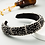 Thumbnail: Rhinestone Wide Hoops Sparkle Party Headband M379 (5Pieces)