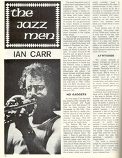 Profile of Ian Carr in Beat Instrumental, November 1972 page 36. Thanks to Sean O'Mahoney for permission to reproduce this article on the website
