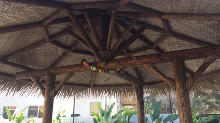 3 Post Palapas-Synthetic Thatch
