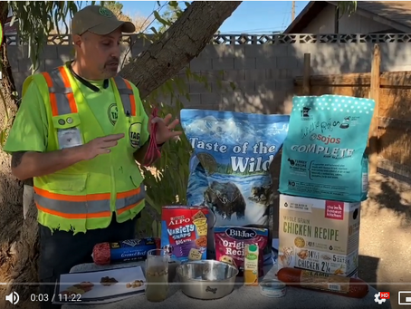 Dog Food Tips and Nutrition Information from Las Vegas Dog Trainer at Taggs K9
