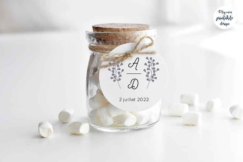 Logo et étiquette mariage - Collection éternité - Fichier numérique