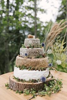 Cheese wedding cake mariage éco-responsable. Photo : Lisebery