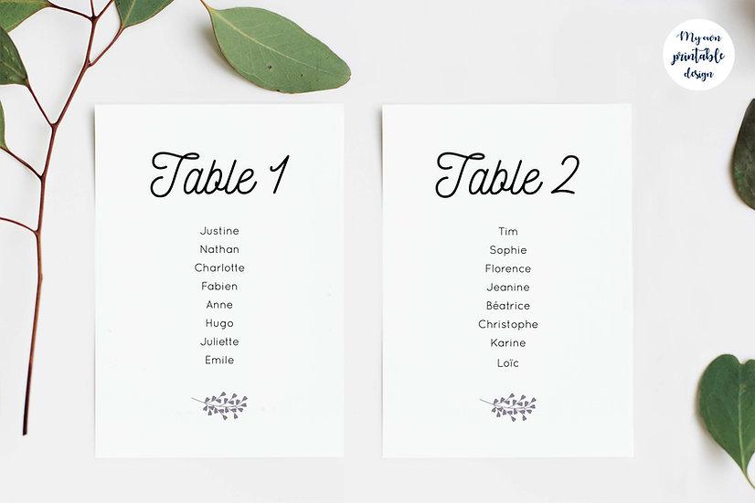 Plan de table - Collection éternité - Fichier numérique