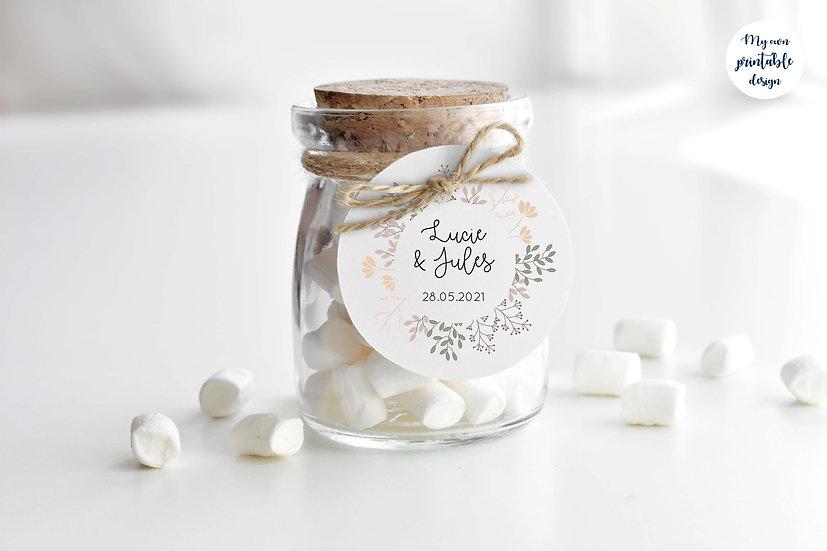 Logo et étiquette mariage - Collection printemps - Fichier numérique