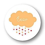 My own printable design, macaron des bébés à imprimer, collection nuage orange