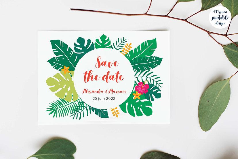 Save the date - Collection exotisme - Fichier numérique