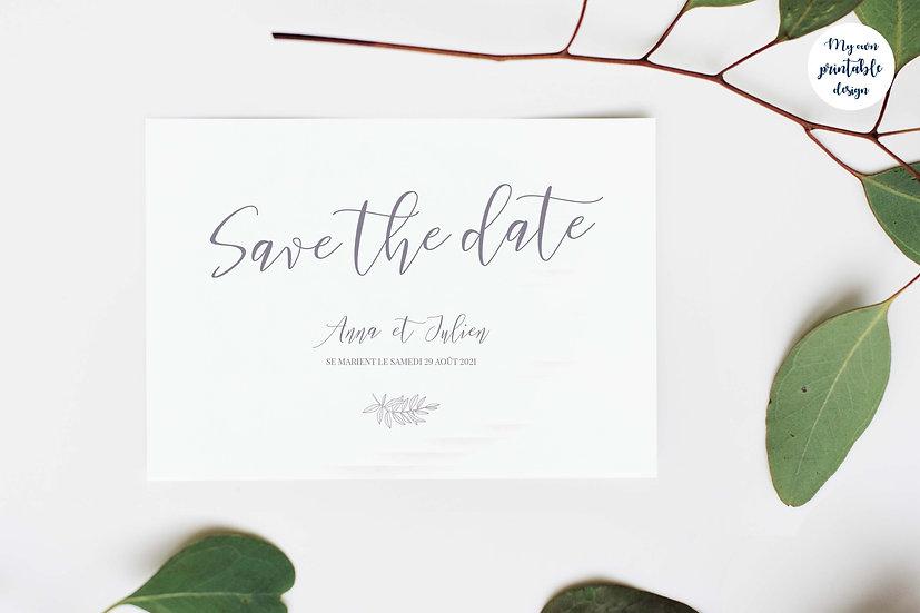 Save the date - Collection délicatesse - Fichier numérique