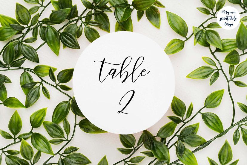 Numéros de table - Collection délicatesse - Fichier numérique