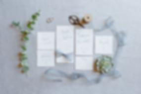 Collection Délicatesse de papeterie à imprimer : faire-part, save the date et carte de remerciement
