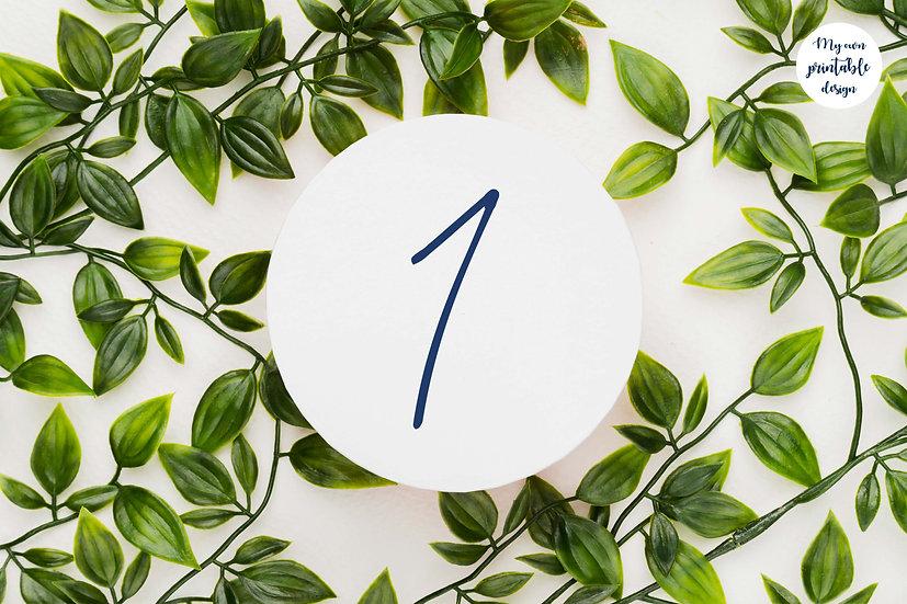 Numéros de table - Collection modernité - Fichier numérique