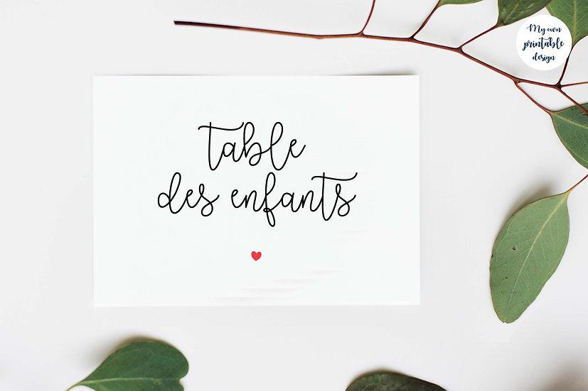 Marque table - Collection guinguette - Fichier numérique
