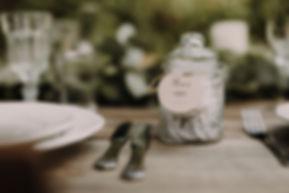 Bonbonnière en verre en cadeau aux invités et étiquette merci collection délicatesse par My own printable design. Crédit photo : Lyse Kong