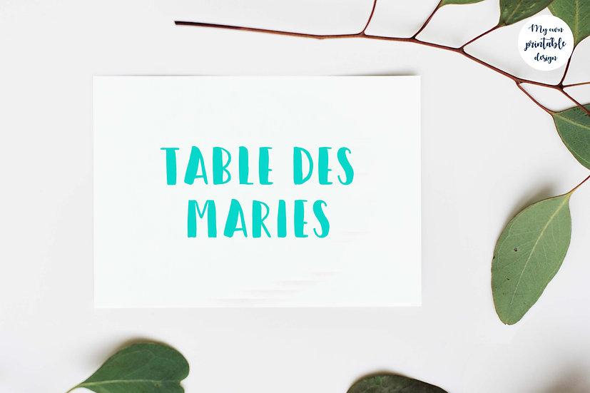 Marque table - Collection pop love - Fichier numérique