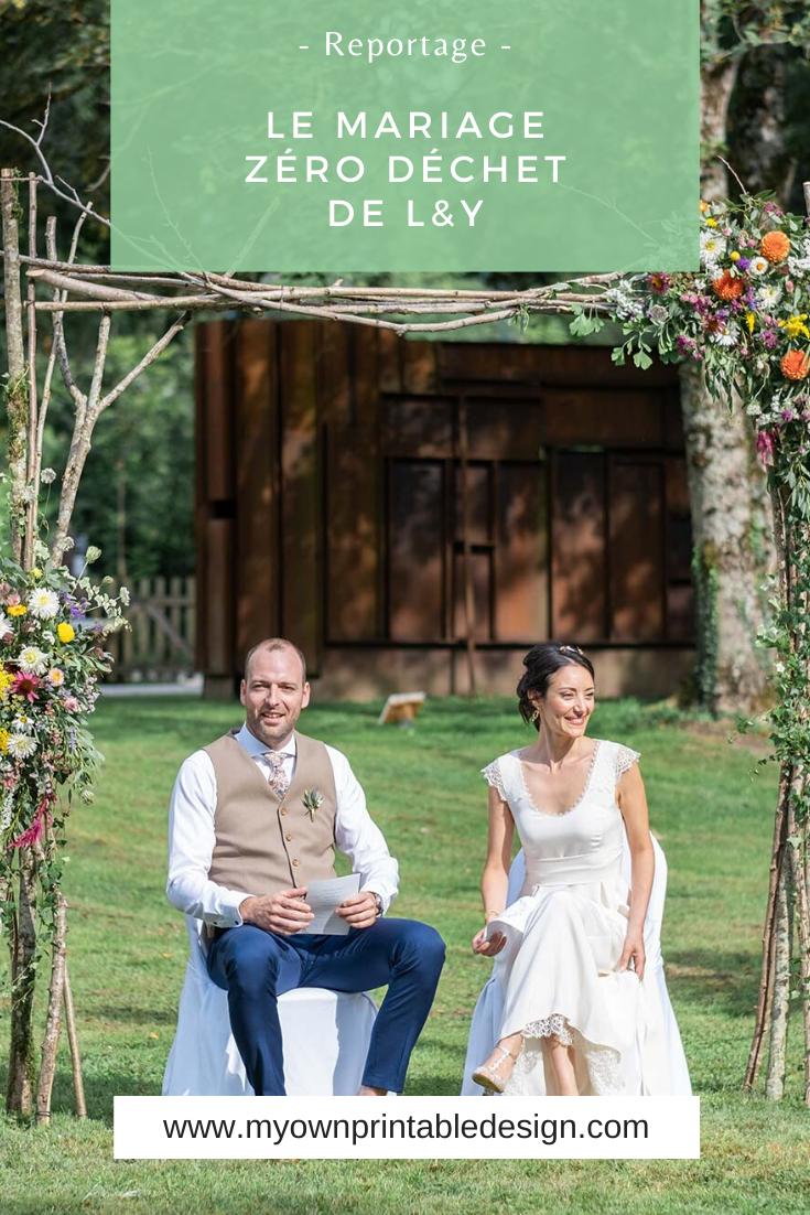 Mariage zéro déchet de L&Y. Astuces et idées pour un mariage écoresponsable.