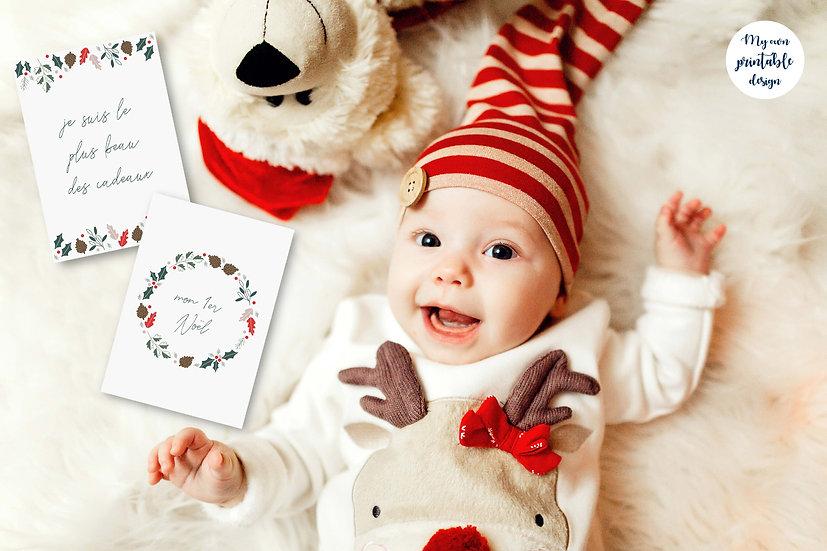 15 cartes étapes bébé noël - Fichier numérique