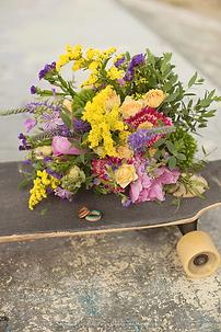 bouquet de la mariée jaune rose et violet
