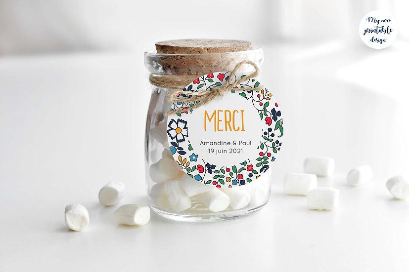 Logo et étiquette mariage - Collection liberty - Fichier numérique
