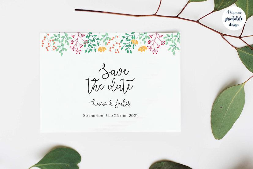 Save the date - Collection printemps - Fichier numérique
