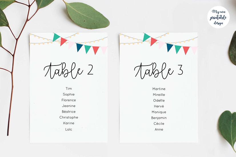 Plan de table - Collection guinguette - Fichier numérique
