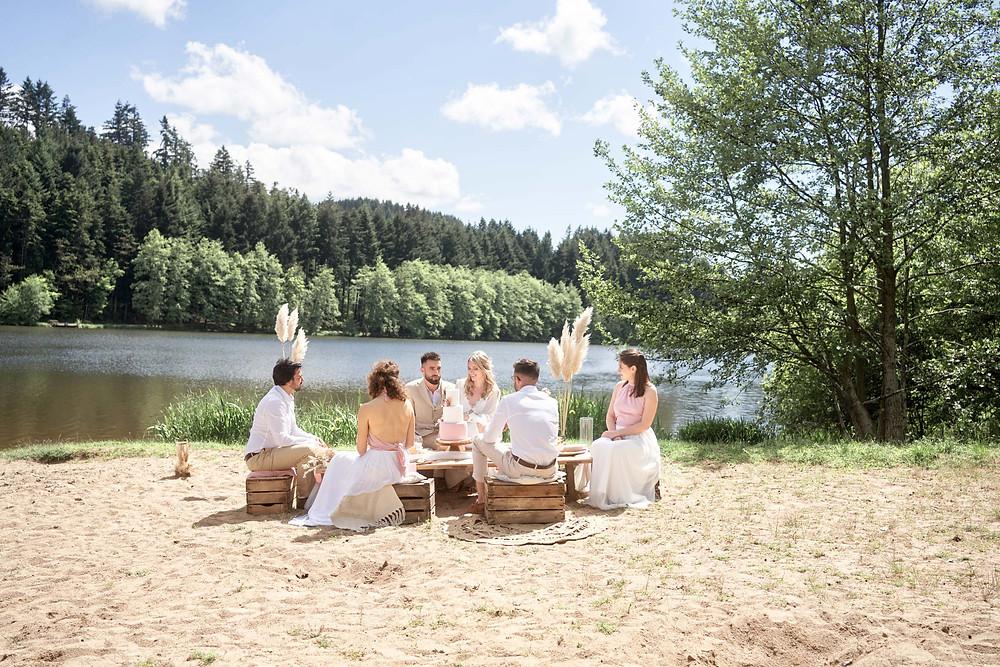 Un mariage bohème chic à la plage