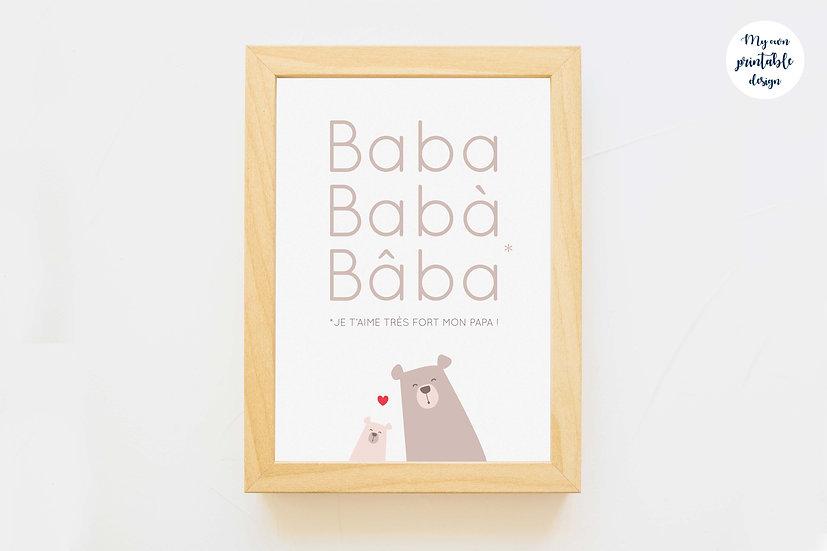 Carte premier je t'aime papa - Collection petit ours - Fichier numérique
