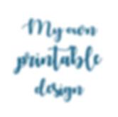 logo My own printable design, papeterie mariage et naissance éco-responsable et zéro déchet